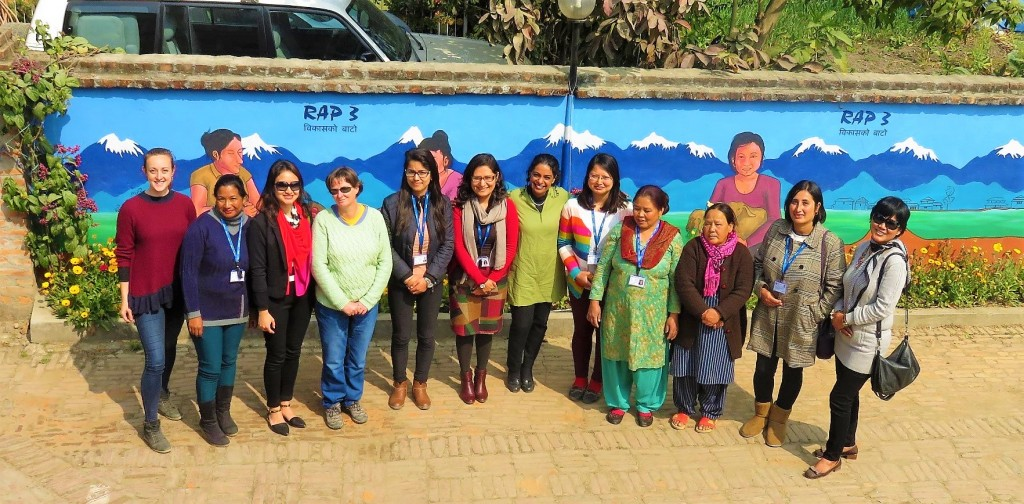 RAP staff standing in front of the technical management offices in Kathmandu, February 2017. Credit: Asin Sharma, RAP 3 staff.