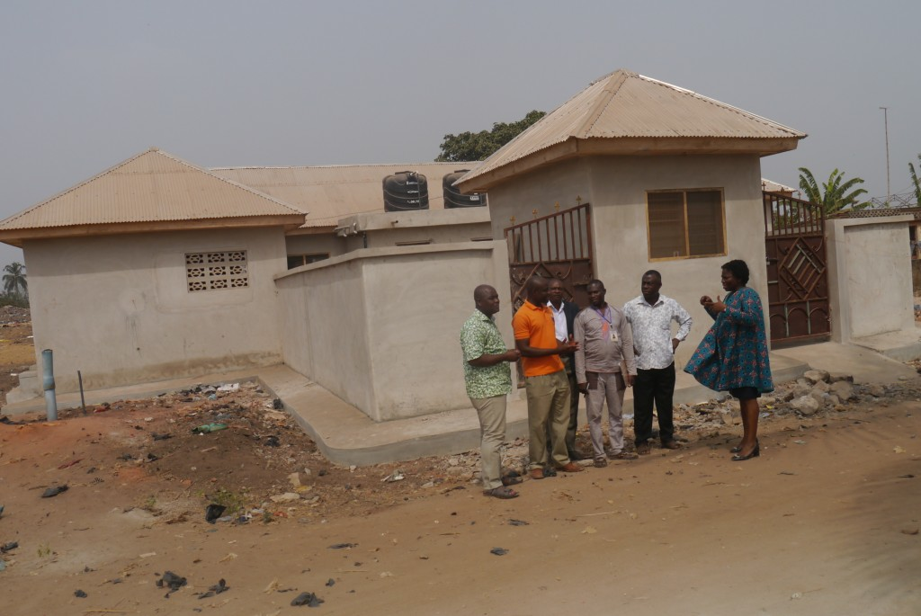 A newly completed public facility near the market area in Akumadan Offinso - North District.