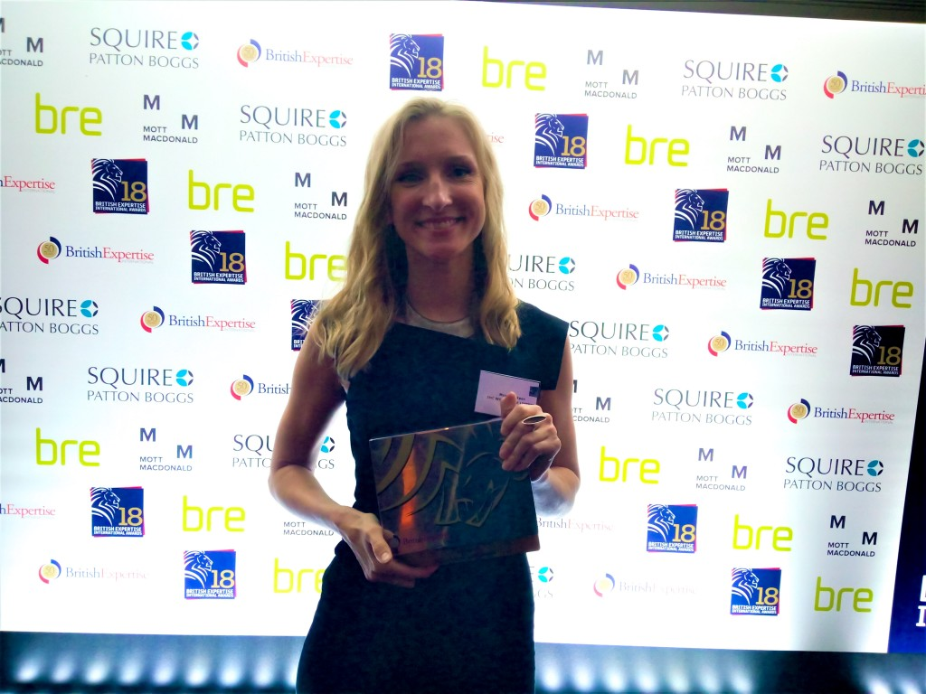 At the British Expertise International Awards on 12 April in London, IMC's Principal Consultant Monica Inkpen was announced as one of the winners in the Young Consultant of the Year category.