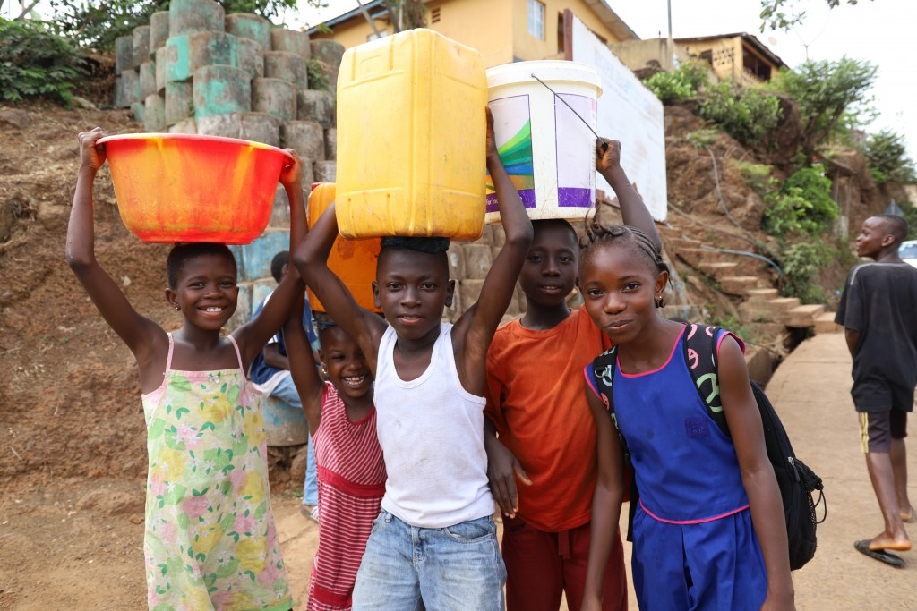 With funding from the UK Department for International Development, IMC's water, sanitation and hygiene team has been working in Sierra Leone's capital Freetown to rehabilitate and extend its water network by around 80 kilometres and allow 600,000 people in the eastern part of the city to access safe water.